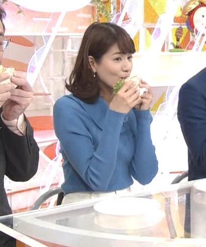 永島優美アナ ゆったりねのニットのほうがおっぱいがエロくない??キャプ・エロ画像8