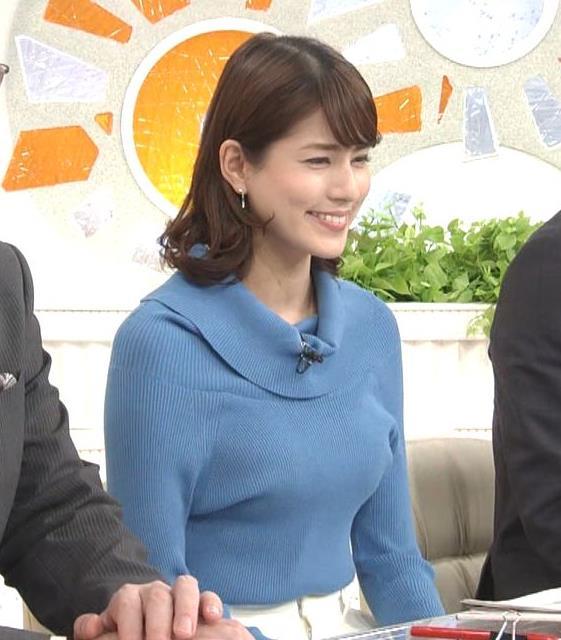 永島優美アナ ゆったりねのニットのほうがおっぱいがエロくない??キャプ・エロ画像10