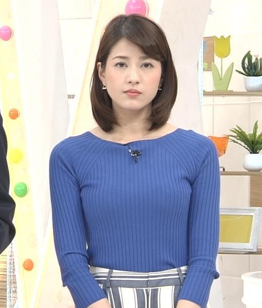 永島優美アナ いつもピタピタのニットを着てるキャプ・エロ画像2