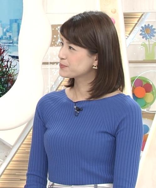 永島優美アナ いつもピタピタのニットを着てるキャプ・エロ画像3