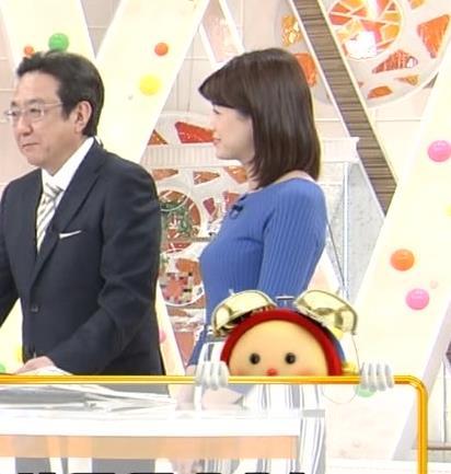 永島優美アナ いつもピタピタのニットを着てるキャプ・エロ画像4