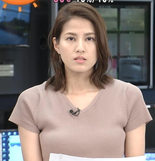 永島優美アナ 横乳キャプ・エロ画像