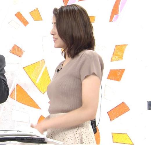 永島優美アナ 横乳キャプ画像(エロ・アイコラ画像)