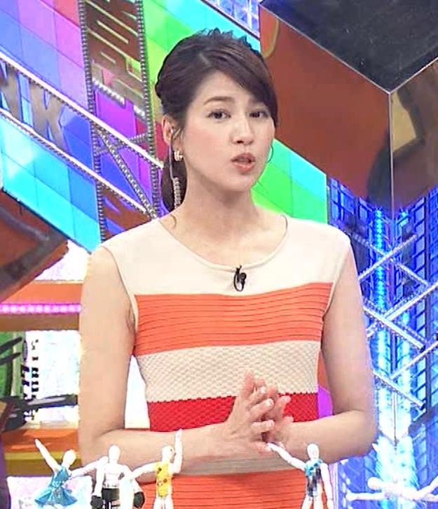 永島優美アナ 夜の番組はさらにエロい衣装を着てるキャプ・エロ画像2