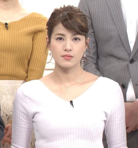 永島優美アナ 冬でもニットおっぱい♡キャプ・エロ画像2
