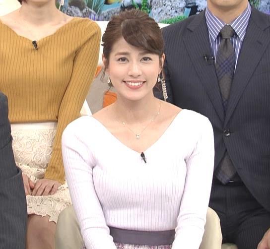 永島優美アナ 冬でもニットおっぱい♡キャプ・エロ画像4