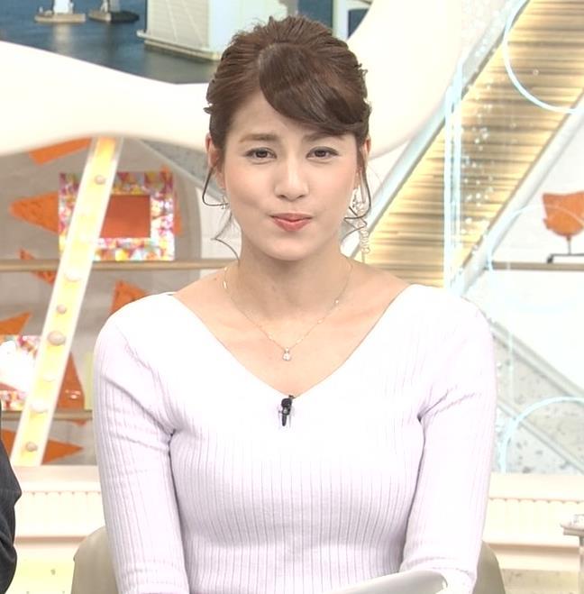 永島優美アナ 冬でもニットおっぱい♡キャプ・エロ画像7