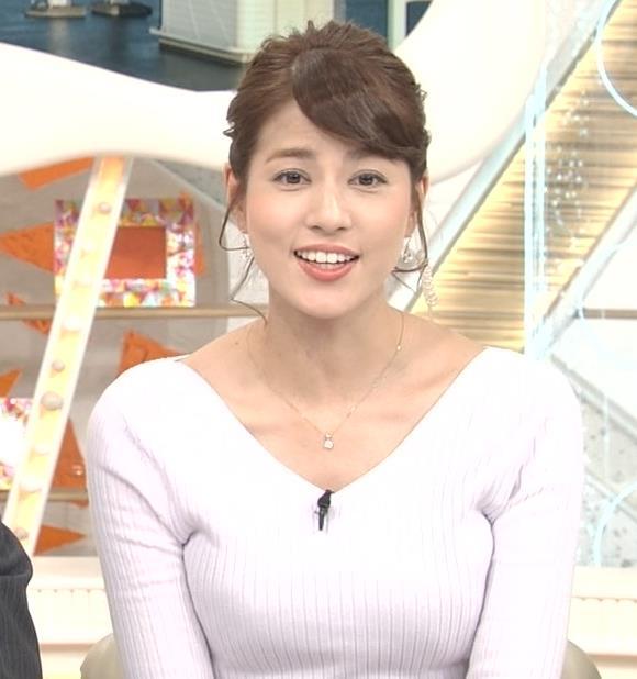 永島優美アナ 冬でもニットおっぱい♡キャプ・エロ画像8