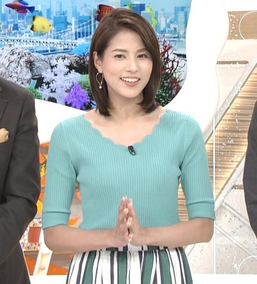 永島優美アナ ♡ニットおっぱい♡キャプ・エロ画像5