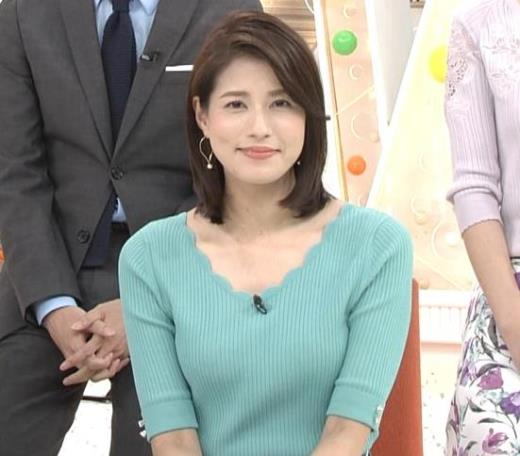 永島優美アナ ♡ニットおっぱい♡キャプ画像(エロ・アイコラ画像)