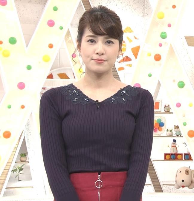 永島優美アナ ◆ニット乳◆キャプ・エロ画像
