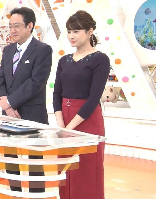 永島優美アナ ◆ニット乳◆キャプ・エロ画像2