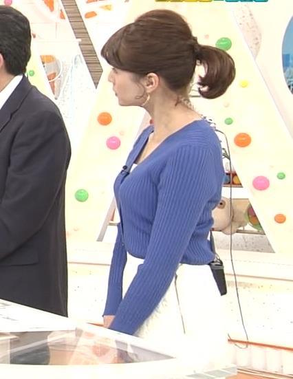永島優美アナ ニット横乳★キャプ・エロ画像