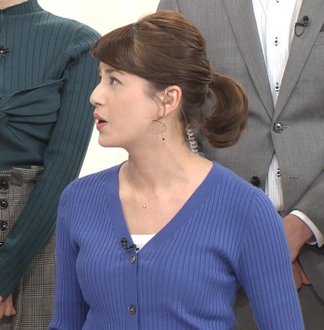 永島優美アナ ニット横乳★キャプ・エロ画像4