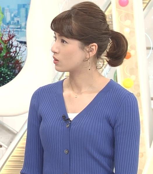 永島優美アナ ニット横乳★キャプ・エロ画像6