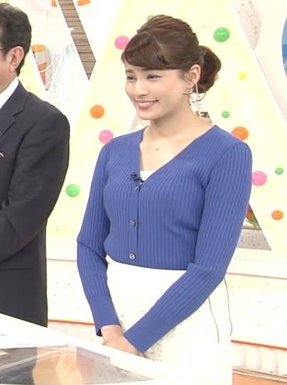 永島優美アナ ニット横乳★キャプ・エロ画像7