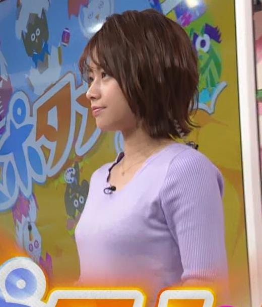 中川絵美里アナ ニット乳キャプ・エロ画像