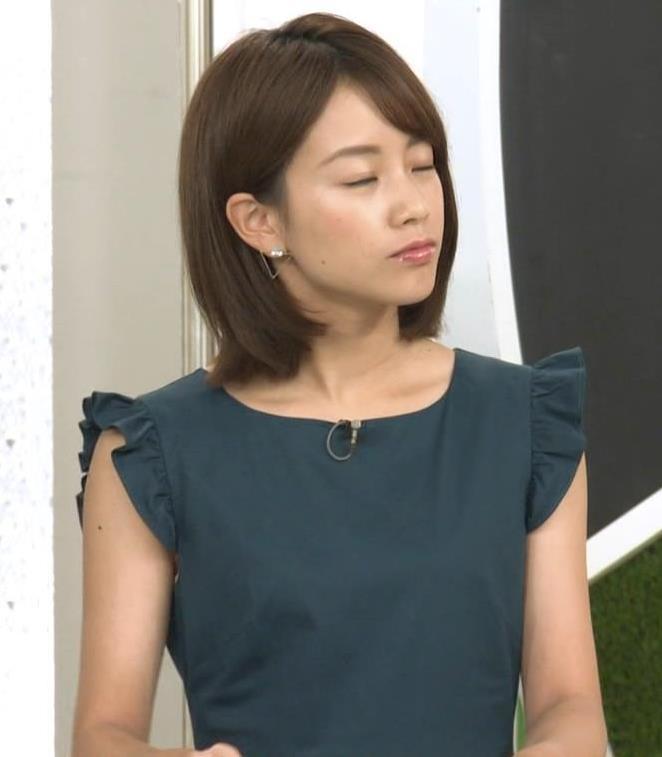 中川絵美里アナ ノースリーブでワキちらキャプ・エロ画像2