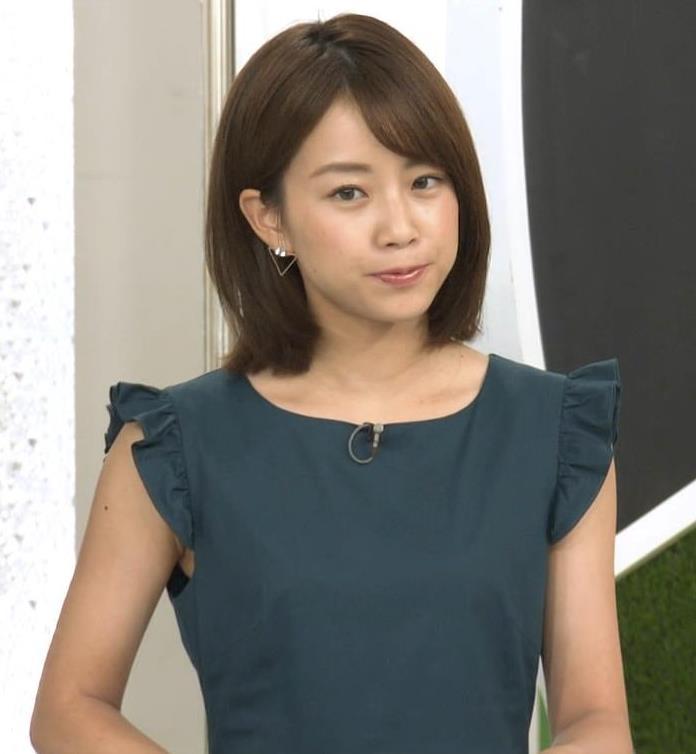 中川絵美里アナ ノースリーブでワキちらキャプ・エロ画像4