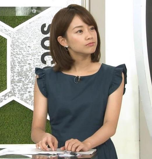 中川絵美里アナ ノースリーブでワキちらキャプ・エロ画像6