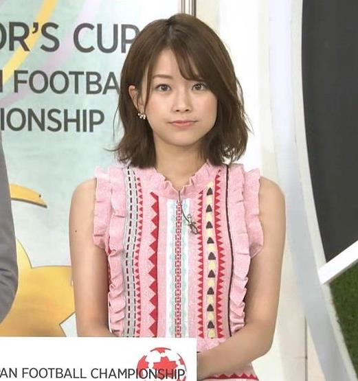 中川絵美里アナ かわいいノースリーブキャプ・エロ画像