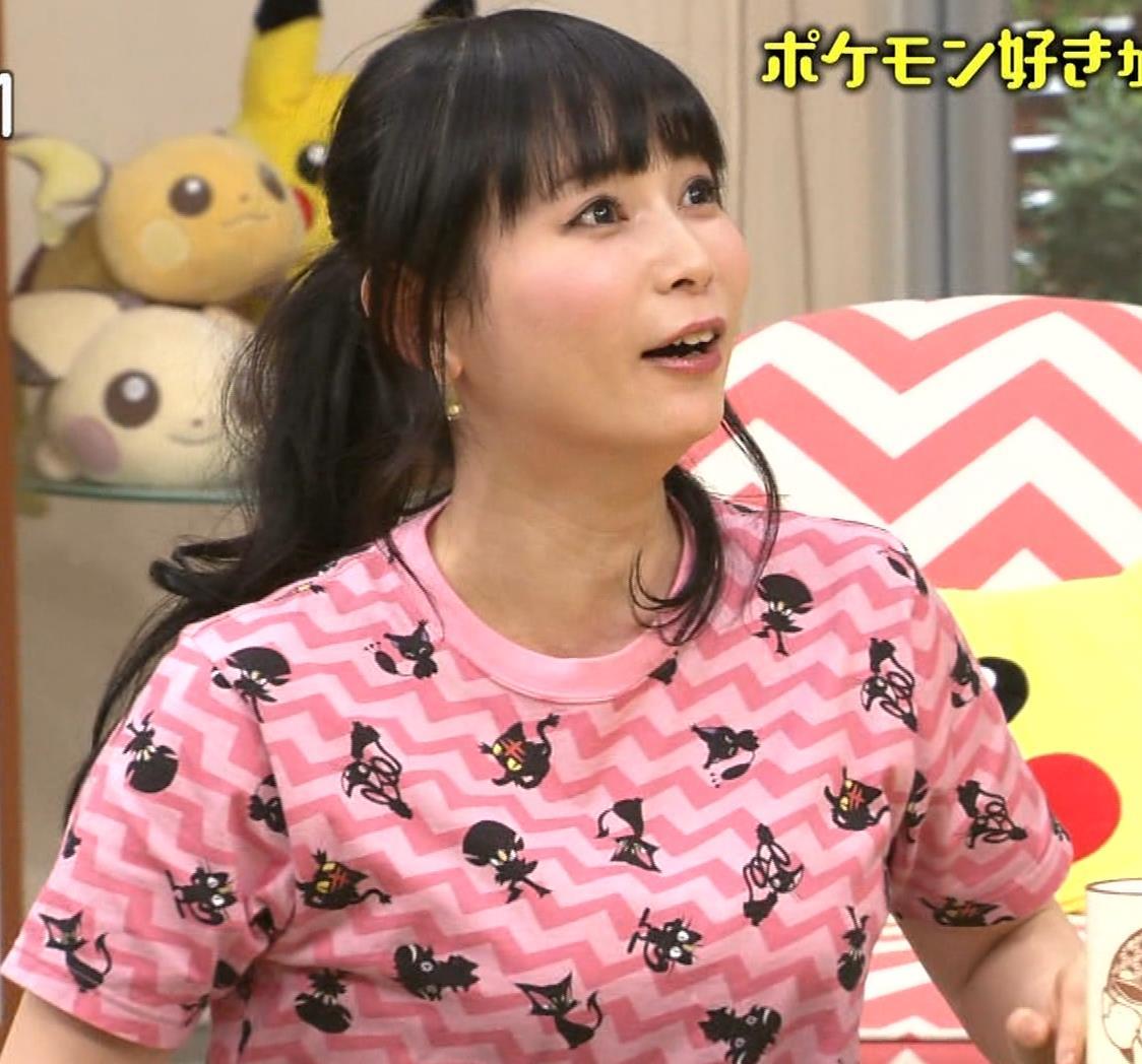 中川翔子 Tシャツおっぱいキャプ・エロ画像