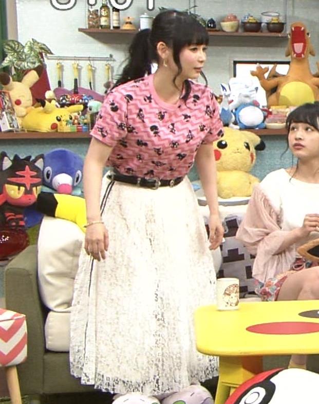 中川翔子 Tシャツおっぱいキャプ・エロ画像2