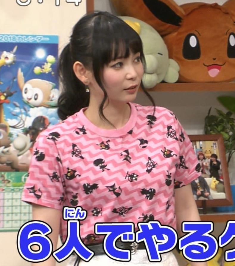 中川翔子 Tシャツおっぱいキャプ・エロ画像12