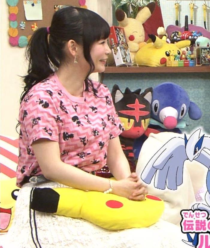 中川翔子 Tシャツおっぱいキャプ・エロ画像3