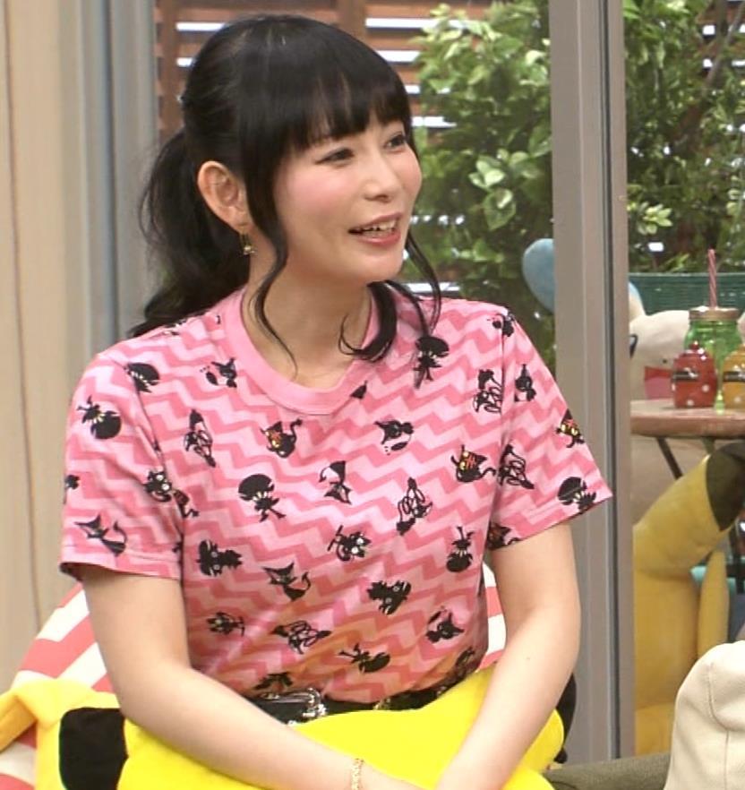 中川翔子 Tシャツおっぱいキャプ・エロ画像4