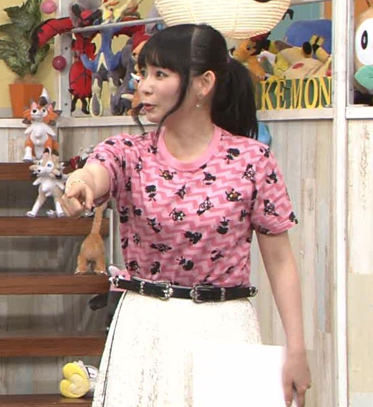 中川翔子 Tシャツおっぱいキャプ・エロ画像8