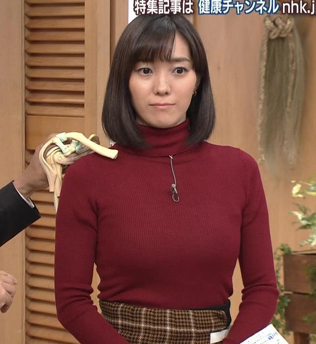 中村慶子アナ NHK巨乳穴のニット横乳がエロ過ぎるキャプ・エロ画像