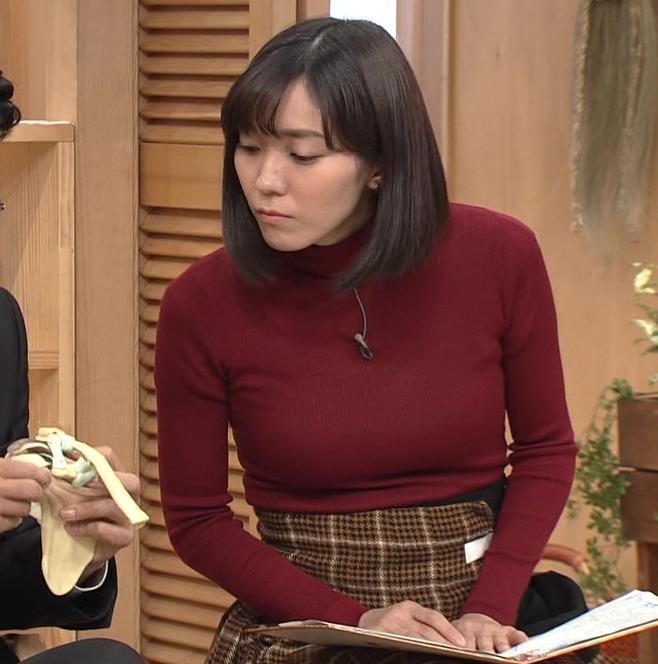 中村慶子アナ NHK巨乳穴のニット横乳がエロ過ぎるキャプ・エロ画像2