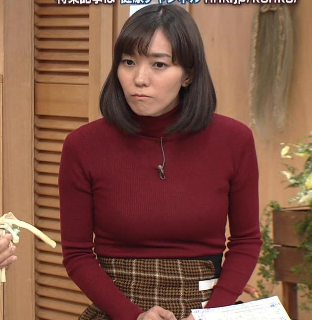 中村慶子アナ NHK巨乳穴のニット横乳がエロ過ぎるキャプ・エロ画像3