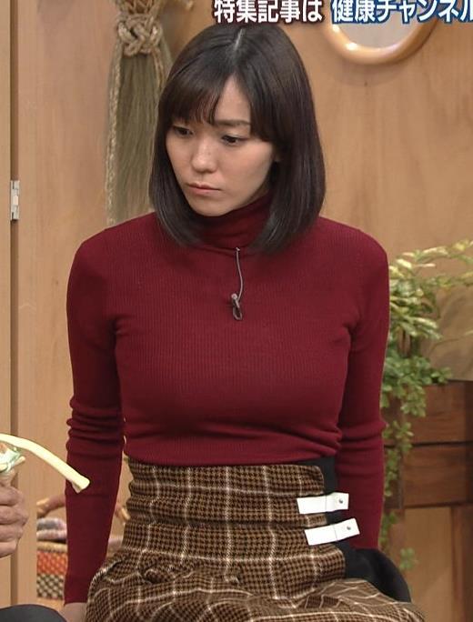 中村慶子アナ NHK巨乳穴のニット横乳がエロ過ぎるキャプ・エロ画像4