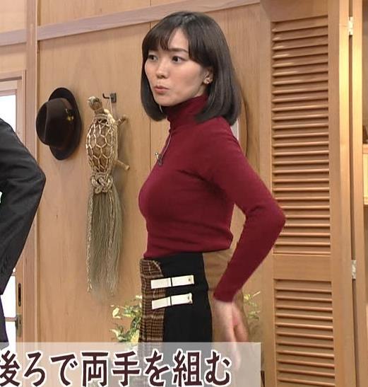 中村慶子アナ NHK巨乳穴のニット横乳がエロ過ぎるキャプ・エロ画像5