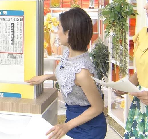 中西悠理アナ ノースリーブ横乳がエロいキャプ・エロ画像4