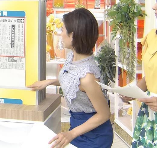 中西悠理アナ ノースリーブ横乳がエロいキャプ画像(エロ・アイコラ画像)
