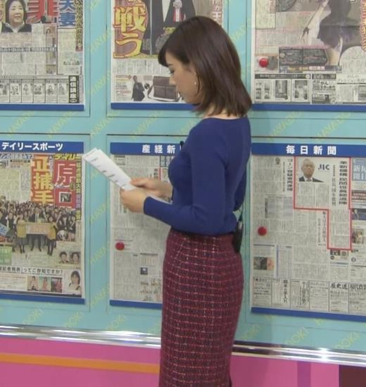 中西悠理アナ セクシーニットキャプ・エロ画像2
