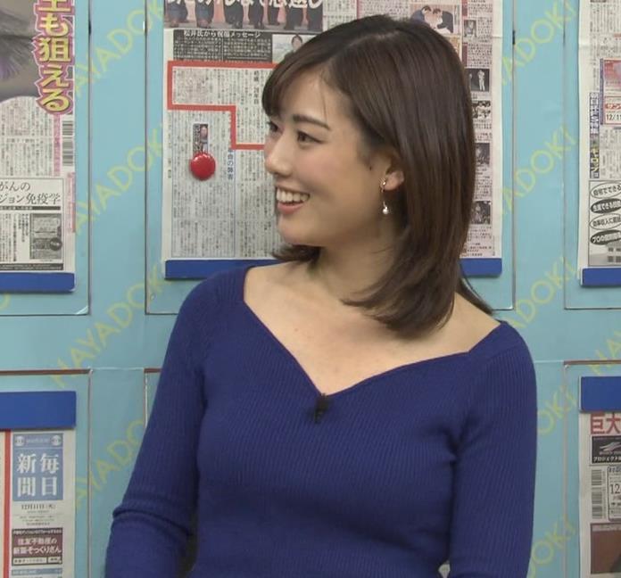 中西悠理アナ セクシーニットキャプ・エロ画像3