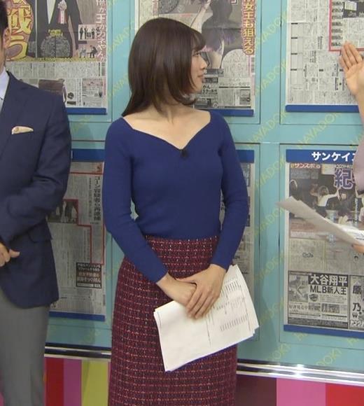 中西悠理アナ セクシーニットキャプ・エロ画像4