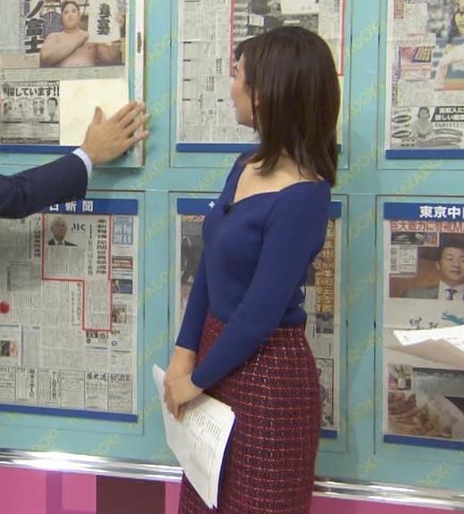 中西悠理アナ セクシーニットキャプ・エロ画像5