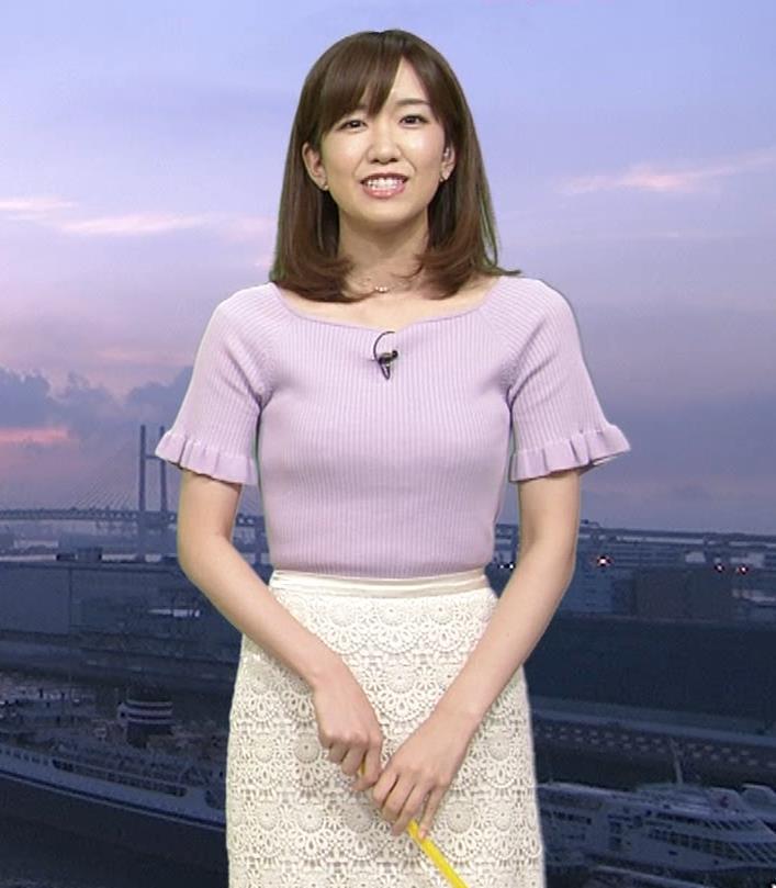 中西希 ニット乳 Oha!4気象予報士キャプ・エロ画像11