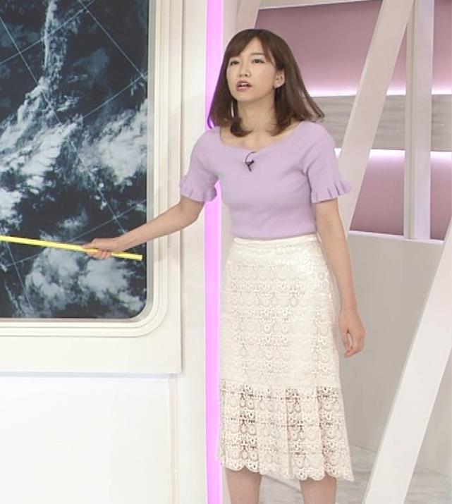 中西希 ニット乳 Oha!4気象予報士キャプ・エロ画像5