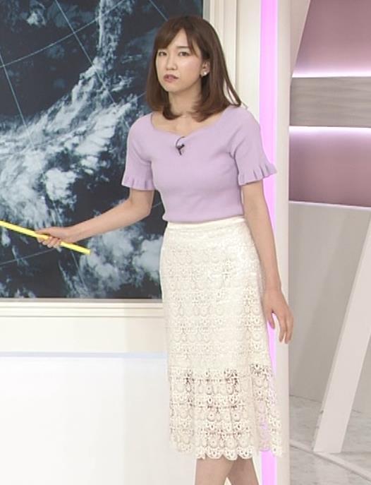 中西希 ニット乳 Oha!4気象予報士キャプ・エロ画像6