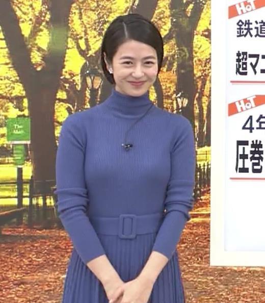 夏目三久 エロいピチピチニットキャプ画像(エロ・アイコラ画像)