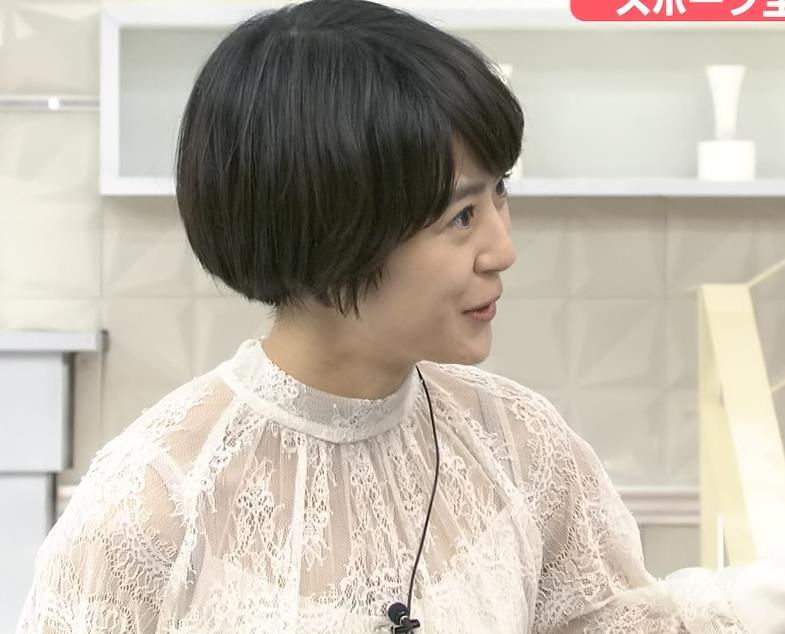 夏目三久 透け透けレース衣装キャプ・エロ画像3