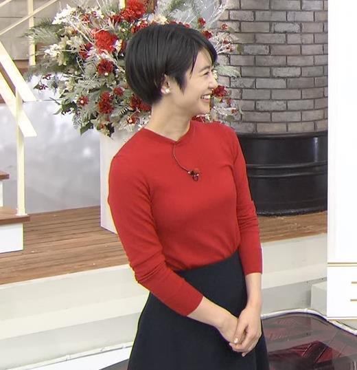 夏目三久 ぴったりニットキャプ画像(エロ・アイコラ画像)