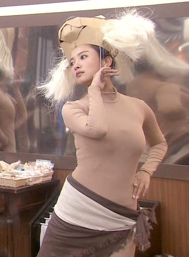 夏菜 肌色の全身タイツで巨乳がエロ過ぎキャプ・エロ画像11