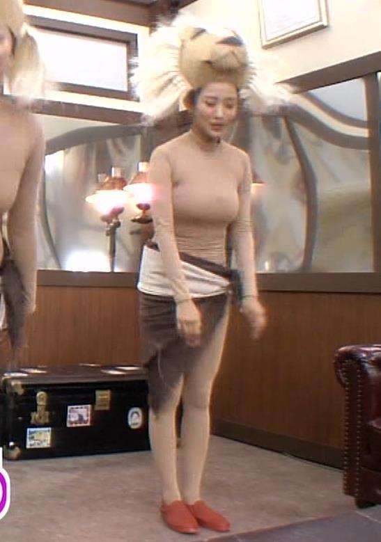 夏菜 肌色の全身タイツで巨乳がエロ過ぎキャプ・エロ画像12